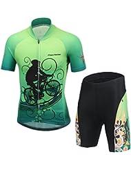 Amur Leopard Enfant Maillot de Cyclisme + Cuissard Ensemble
