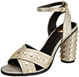 Buffalo Damen 316-0566-1 Leather PU Riemchensandalen, (Gold 01), 39 EU