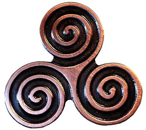 Triskelion Triple Spiral Celtic Neolithic Wiccan Triskele Symbol Metal Pin Badge