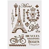 Ogquaton Plantilla de DIY Torre Eiffel Layering Stencils para Paredes Pintura Scrapbooking Álbum Decorativo En Relieve