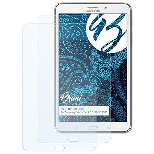Bruni Pellicola Protettiva per Samsung Galaxy Tab 4 8.0 LTE/3G T335 Pellicola Proteggi, Cristallino Proteggi Schermo (2X)