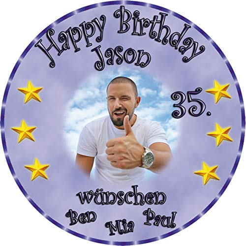 Tortenaufleger Fototorte Tortenbild zum Geburtstag Rund 14 cm G2 (Zuckerpapier) (Bild Kuchen)