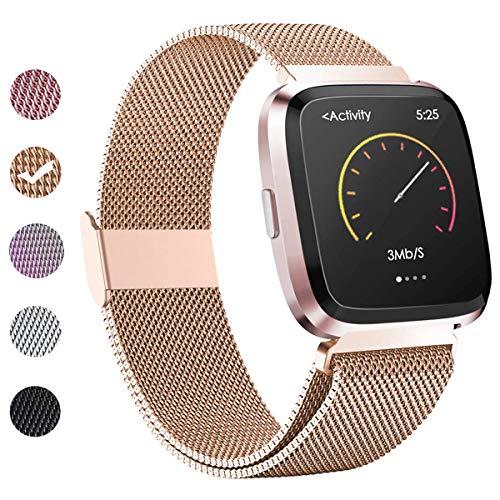 BeYself Kompatibel für Fitbit Versa Armband & Versa 2 Armband & Versa Lite Armband Damen Herren, Klein Groß