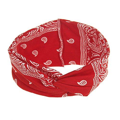 Rosennie Haarband Damen Sport Yoga Stirnband Blumenhaar Band Turban Verdrehte Geknotet Frauen Elastisches Kopfschmuck Kopfbedeckung Turban Wrap Kappe Damen Fasching Kostüm Accessoires