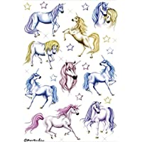 "HERMA Stickers DECOR ""licornes"" 2 feuilles 85 x 120 mm de 9 Stickers"