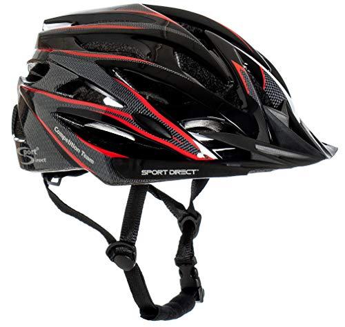 Sport DirectTM Herren Fahrradhelm Team Comp 24 Vent Graphit 58-61 cm CE EN1078:2012+A1:2012 -