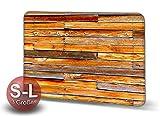 Printalio Bretterwand - Schmutzmatte Bodenvorleger Fußmatte Türmatte Abtreter Abstreifer gekettelter Rand Rutschfest Waschbar Individuell | 70 cm x 50 cm