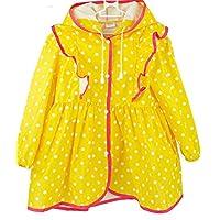Qianliniuinc Nylon Polka Dots Child Princess Raincoat Rainwear for Children Kids Girls Baby Rain Coat Poncho Waterproof Clothes
