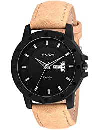 BigOwl Premium Leather Strap Analog Wrist Watch For Men,Boys