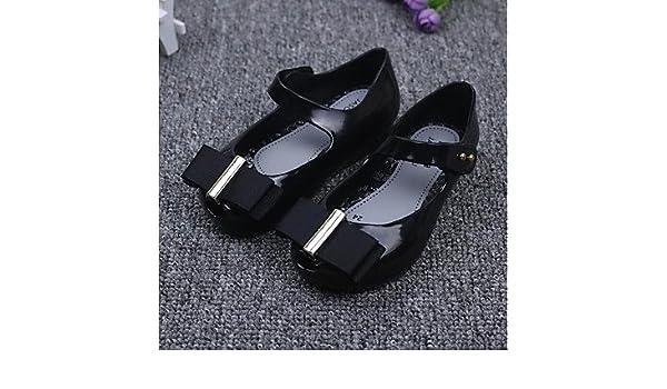 Wuyulunbi Ragazze' Scarpe Pu cadere fiore ragazza scarpe Appartamenti Bowknot per Casual Beige nero,Beige,US9 / EU25 / UK8 Toddle