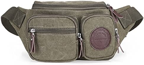 GSCscarpe Funny Pack Ocket Casual Casual Casual Sport Marsupio Crossbody Marsupio Marronee verde Beige Blu Canvas Travel Money Belt RFID Blocking (Coloreee   verde) B07JZCRDC4 Parent | New Style