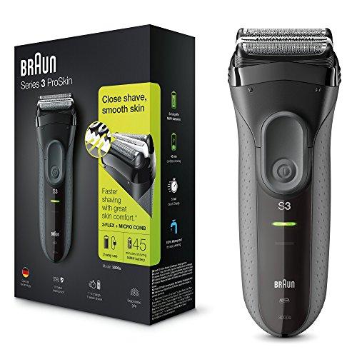 Braun Series 3 ProSkin 3000s - Máquina de afeitar recargable, color negro