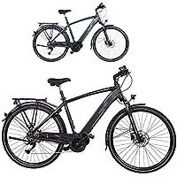 FISCHER Herren - E-Bike Trekking VIATOR 4.0i, schwarz oder grün matt, 28 Zoll, RH 50 cm, Mittelmotor 50 Nm, 48 V Akku im Rahmen