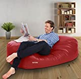 Dayorg 4 Feet Oval Shaped Sofa Couch Bean Bag Without Beans (Red)