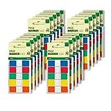 Sigel HN475 Marque-pages adhésifs en papier film transparent, en distributeur Z, 2600 feuilles de 1,2 x 4,3 cm, Color-Tip 5 couleurs