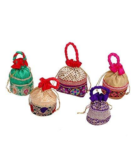 Kuber Industries™ Designer Potli Bag, Make up Bag, Hand Bag Set of...