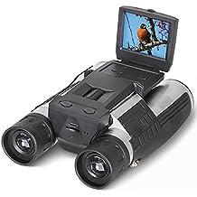 Binocular Cámara Digital 2 FHD 12x32, SGODDE Prismáticos 5MP Cámara Video de la Videocámara LCD