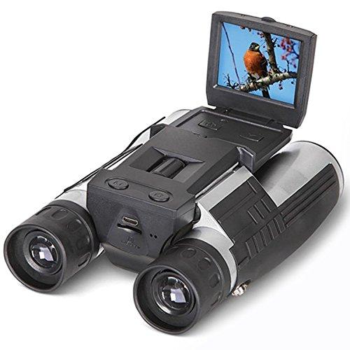 2'' FHD Digitalkamera Fernglas,SGODDE FS608R Kamera Binoculars 12x32 5MP Video Recorder Kamera Teleskop Binoculars - 5,1 cm LCD HD 1080p Digital Teleskop-Video-Kamera für die Jagd, Angeln, Vögel,Camping,Wandern