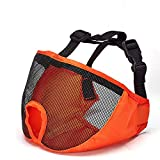 NaiCasy Bulldog Kurz Augenmaske Nasenmaske Hund Hund Hund Rot-Proof Hunde (orange), Haustierprodukte für Hunde