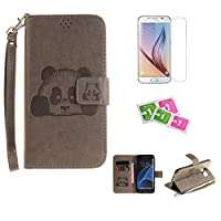 Samsung Galaxy Grand Prime (G5308/G530H) Case, JGNTJLS [New Style for SS/AW] [with Free Tempered Glass Screen Protector and Cleaning Paper] Cute, Stylish, Embossing-Pattern(Pure-Colorful, Artificial-Wrinkle Design), PU Leather-Shell(Silky Touch Fully), In