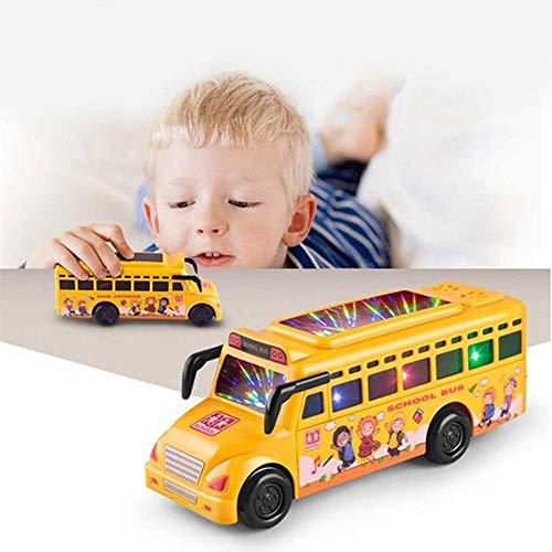 Hamkaw Push N Go Cars für Kleinkinder, Kunststoff, Schulbus, Spielzeug mit 3 Farben, Beleuchtung, musikalisches Lernspielzeug, lustige Reibung, Kraftwerkzeug, für Kleinkinder von 2-5 Jahren School Bus (Go Go School Bus)