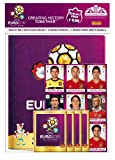 Panini-109950-UEFA-Euro-2012-Starterset-Deluxe-Sammelalbum-Buchformat-4-Stickertten-Quadrotte-Stickerbogen
