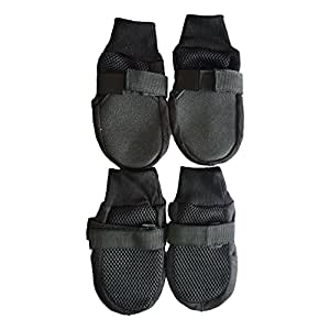 Pawzone Mesh summer Dog Shoes Black-L