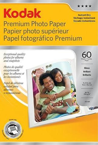 Kodak Premium Photo Paper, Glossy, 100 x 150 mm, 60 Sheets