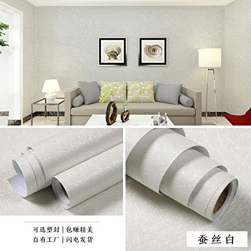 lsaiyy Selbstklebende einfarbige warme Schlafzimmer tapete schlafsaal wasserdicht Dicke PVC wandaufkleber Wohnzimmer Plain 3D dekorative tapete tapete-60 cm X 5 M