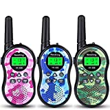 Nestling Walkie Talkies 3 Pack, Camo Exterior Vox Box Voice Activated 2 Way