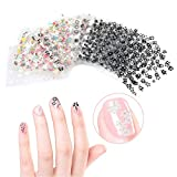 Fablcrew Autocollants pour ongles 50 pcs Ladies Transparent Nail Decals Art Painting Decorative nail art stickers (couleur aléatoire )