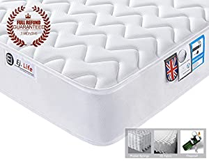 3D Breathable Fabric Mattress with Pocket Springs - 7-Zone Orthopaedic Mattress - 8.7-Inch