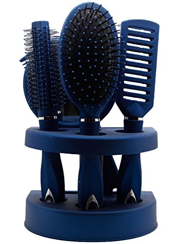 Unisex True Face Grooming Hair Brush Set Blue