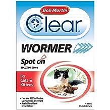 Desparasitante efectivo para gatos y gatitos Bob Martin. Tratamiento vermicida.