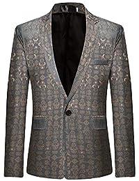 Targogo Giacca da Uomo Slim Fit Leisure Blazer Jacket Giacca da da Smoking  Vintage Uomo Giacca 48c41bd75a7