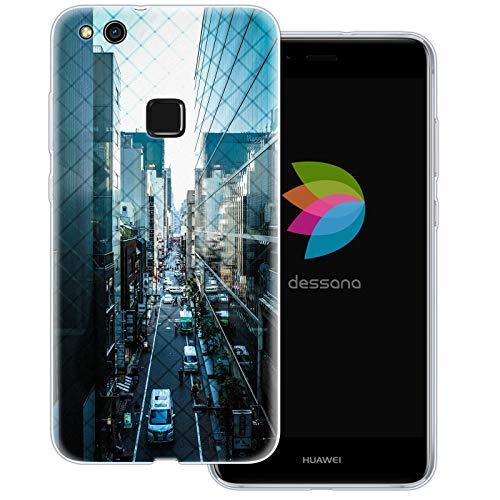 dessana Tokio Japan Transparente Schutzhülle Handy Case Cover Tasche für Huawei P10 Lite Streetview Nippon