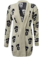 NEW WOMEN'S BIG PLUS SIZE WINTER KNITTED SKULL CARDIGAN WINTER ITEM LARGE SIZE:16/18,20/22,24/26