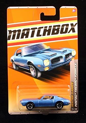 PONTIAC FIREBIRD FORMULA * BLUE * Heritage Classics Series (#2 of 12) MATCHBOX 2011 Basic Die-Cast Vehicle (#15 of 100) by Matchbox