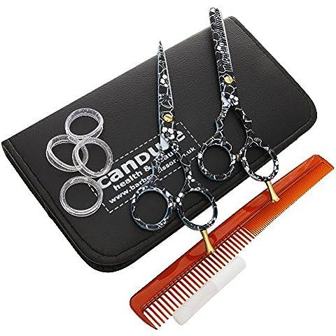 CANDURE®- peluquería Barber Salon tijeras, tijeras de reducción set 5.5
