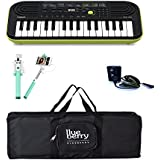 Casio SA 46 Mini keyboard with Adapter & Blueberry Black Bag along with Selfie Stick