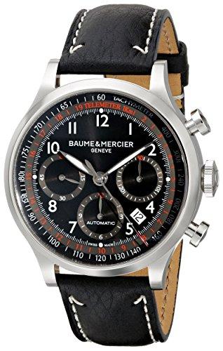 Baume & Mercier 10001 - Reloj de Pulsera Hombre, Color Negro
