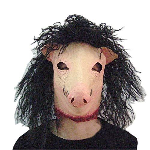 al Maske Parodie Horror Schwein Kopf Maske Spielen Spielshow Lustige Kopfbedeckung Latex Domino ()
