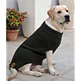 Heads Up For Tails Huft Woolies Dog Sweater Olive Green 2Xl
