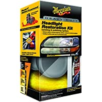 Meguiar`s ME G3000 Heavy Duty Headlight Restoration Kit Cleaner/ Coating/ Accessoires, 118 ml