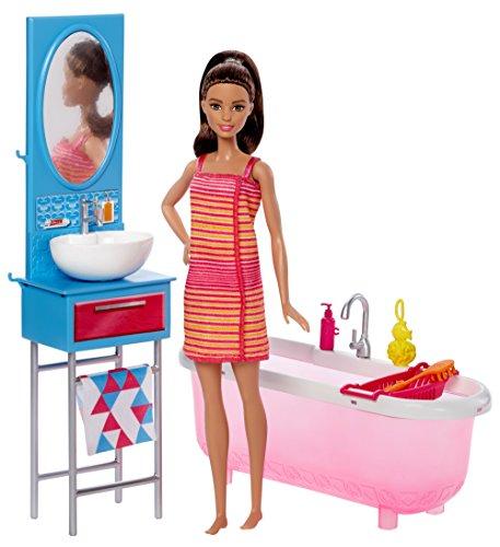 Barbie Muebles de la casa, Muñeca y baño, Accesorios casa de muñecas...