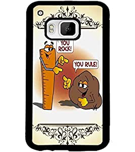 ColourCraft Funny Rock-Rule Design Back Case Cover for HTC ONE M9