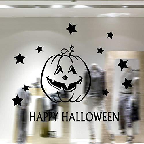 Halloween Kunst Wandaufkleber Kürbis Glas Fenster Dekoration Aufkleber Größe 58x31cm ()