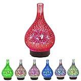 likeitwell Mini-elektrischer Aromatherapy Luftbefeuchter des Haushalts-3D mit Nachtlicht, Haushalts-Luftbefeuchter-Glas, bunter Vasen-Form-Luftbefeuchter