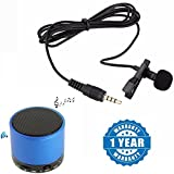 #6: Captcha Lavalier Noise Cancelling Mini 3.5MM Jack Microphone & S10 Bluetooth Portable Speaker for Android/iOS Devices (Color may vary)