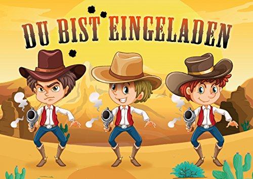 skarten-Set: Lustige Einladungen zum Cowboy-Kindergeburtstag oder in der Westernstadt von EDITION COLIBRI (11005) ()